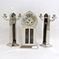 Silver finish Clock Garniture set by WMF